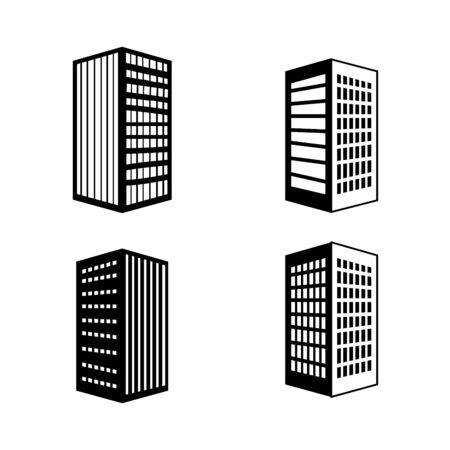 bundle buildings facade isometric icons vector illustration design 向量圖像