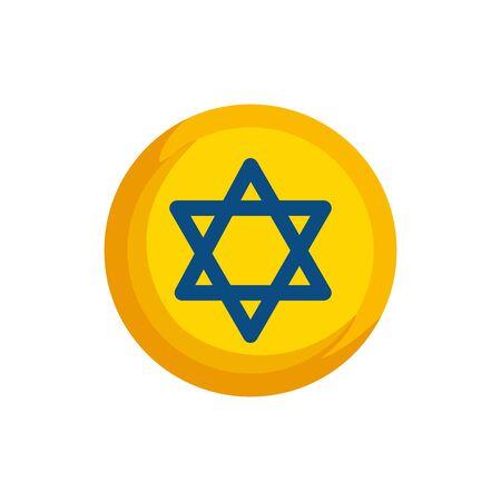 star david in frame circular isolated icon vector illustration design