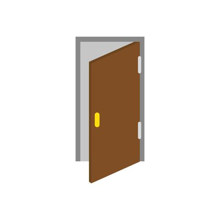 House door design, Home real estate building residential architecture property and city theme Vector illustration  イラスト・ベクター素材