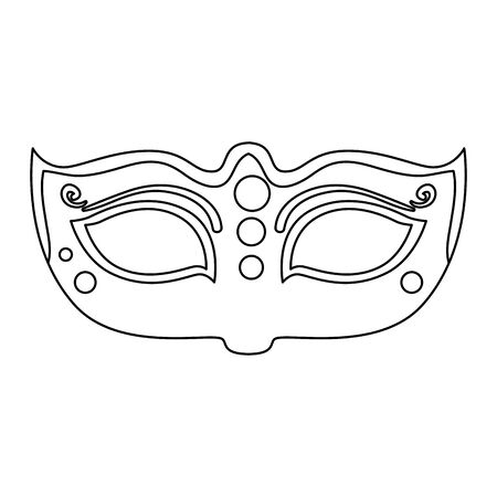 elegant mask fantasy isolated icon vector illustration design  イラスト・ベクター素材