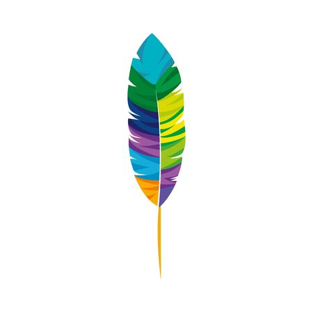 exotic feather bird isolated icon vector illustration design