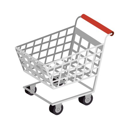 cart shopping transportation isolated icon vector illustration design