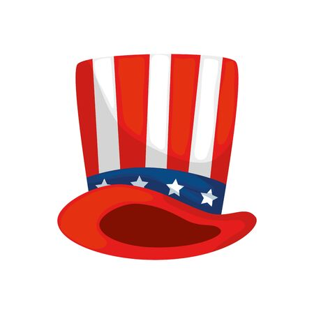 Usa hat design, United states america independence presidents day nation us country and national theme Vector illustration