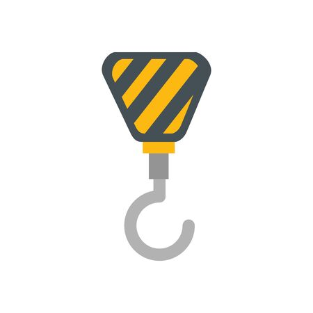 industrial crane hook isolated icon vector illustration design  イラスト・ベクター素材