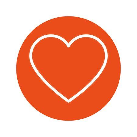 cute heart love isolated icon vector illustration design Standard-Bild - 139676300