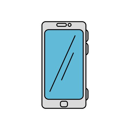 Smartphone design, Cellphone mobile digital phone technology communication and social media theme Vector illustration