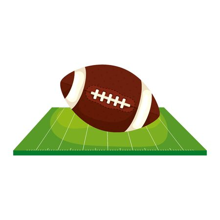 field and ball american football isolated icon vector illustration design Illustration