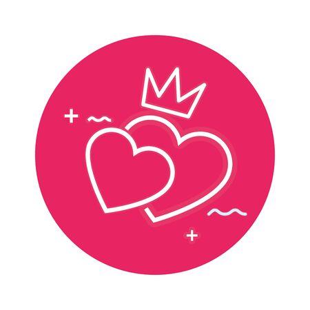 cute hearts love isolated icon vector illustration design Standard-Bild - 139696025