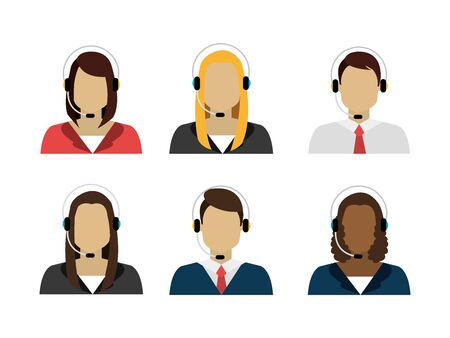 group of workers call center vector illustration design Illustration