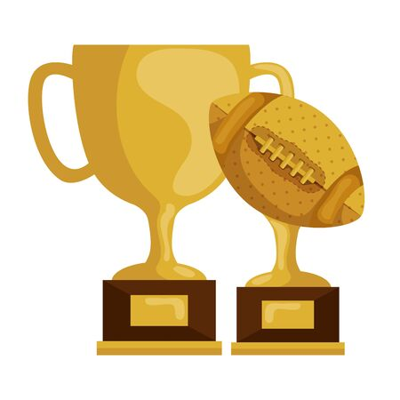 set of trophies isolated icon vector illustration design