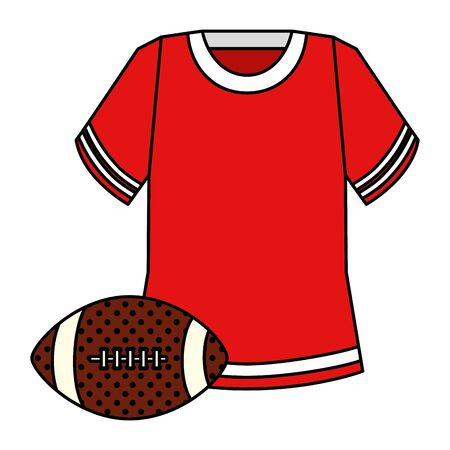 shirt and ball american football isolated icon vector illustration design 일러스트