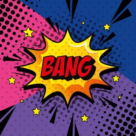 bang expression sign pop art style vector illustration design Ilustracja
