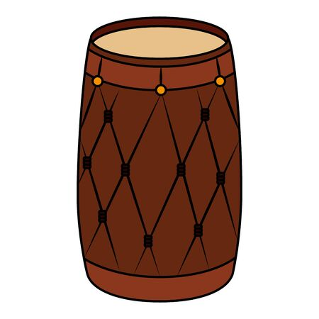 indian drum instrument traditional icon vector illustration design