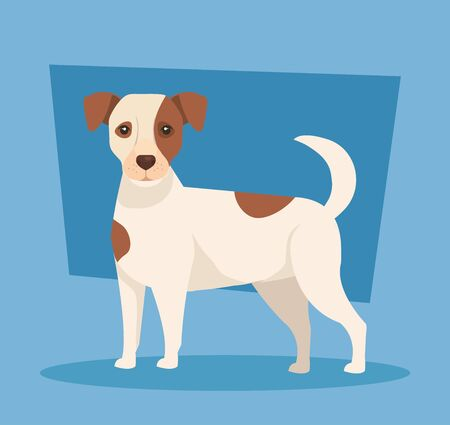 cute spotted dog animal icon vector illustration design