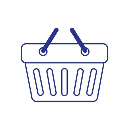 basket shopping handle isolated icon vector illustration design