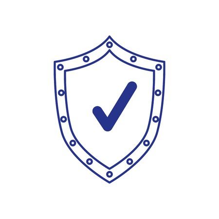 shield with check symbol isolated icon vector illustration design