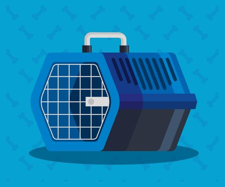 pet carry box in background of bones vector illustration design 版權商用圖片 - 139905392