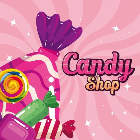 poster of candy shop with caramels vector illustration design Zdjęcie Seryjne - 139938850