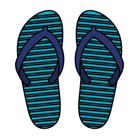 summer flip flops accessories icon vector illustration design