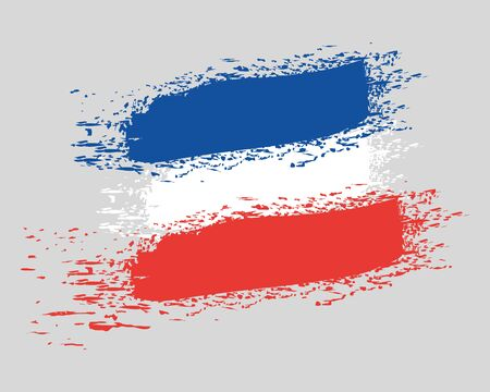 french flag colors country painted vector illustration design
