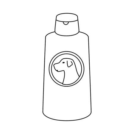 dog care bottle isolated icon vector illustration design