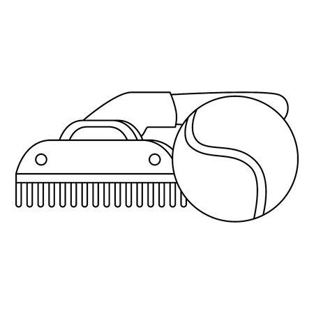 comb pet with ball toy isolated icon vector illustration design Illusztráció