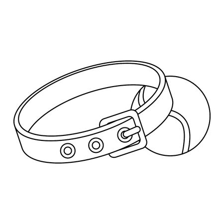 collar for dog with ball toy isolated icon vector illustration design