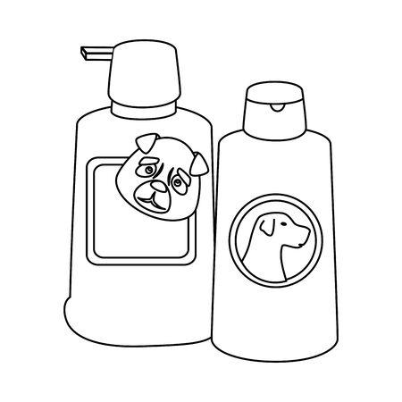 dog care bottles isolated icon vector illustration design Ilustracja