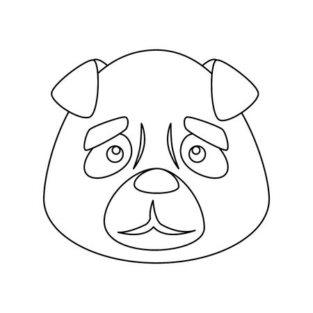 face of cute dog animal isolated icon vector illustration design 向量圖像