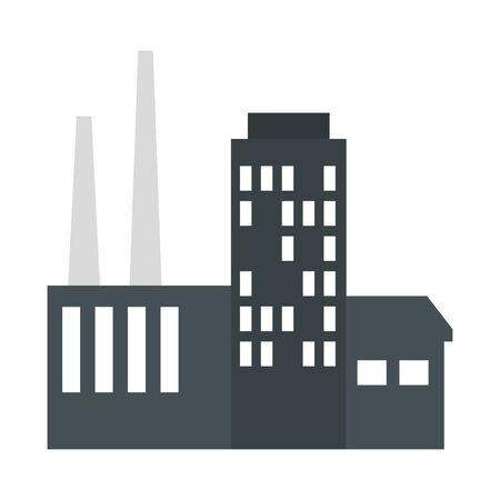 building factory scene icon vector illustration design