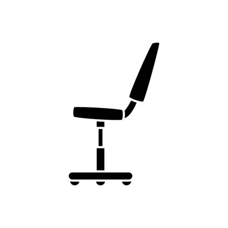 Office chair design, Workforce corporate job occupation professional and workplace theme Vector illustration Foto de archivo - 140205105