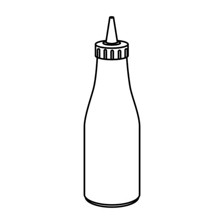 delicious sauce in bottle isolated icon vector illustration design Illustration