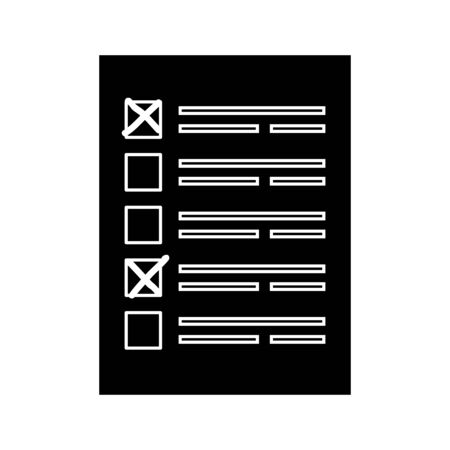 silhouette of vote form with candidates isolated icon vector illustration design