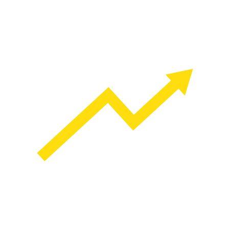 increase arrow icon design, Direction web forward direction web forward infographic and pointer theme Vector illustration Ilustração