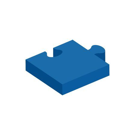 piece of puzzle isolated icon vector illustration design