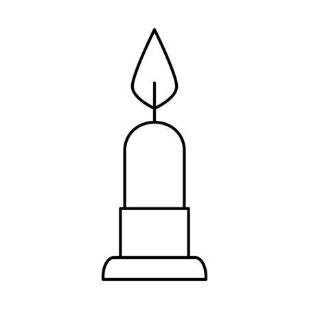 candle light decoration isolated icon vector illustration design Ilustração