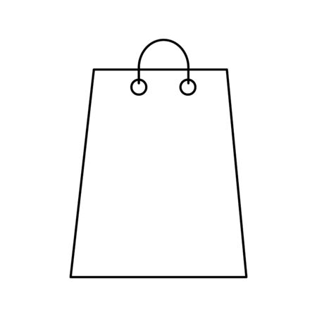 silhouette of shopping bag on white background vector illustration design Zdjęcie Seryjne - 140204610