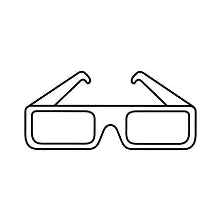 glasses accessory of nineties line style icon vector illustration design