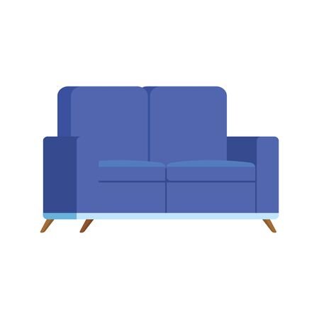 furniture comfortable sofa isolated icon vector illustration design