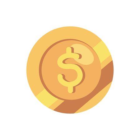 coin money cash isolated icon vector illustration design Zdjęcie Seryjne - 140204597