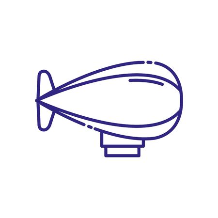 Zeppelin vehicle design, Transportation travel trip urban motor speed fast automotive and driving theme Vector illustration