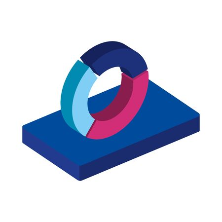 circular statistical graph isolated icon vector illustration design  イラスト・ベクター素材