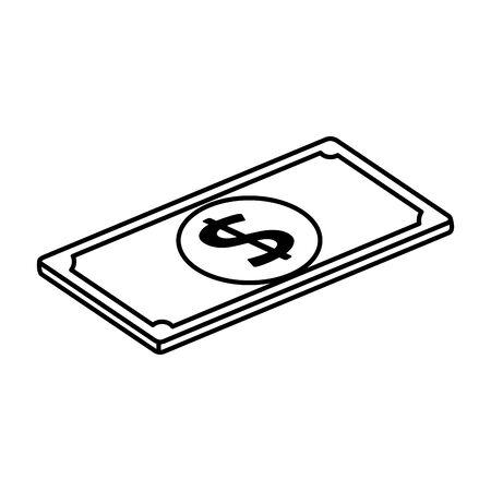 bill money cash line style icon vector illustration design Zdjęcie Seryjne - 140196331