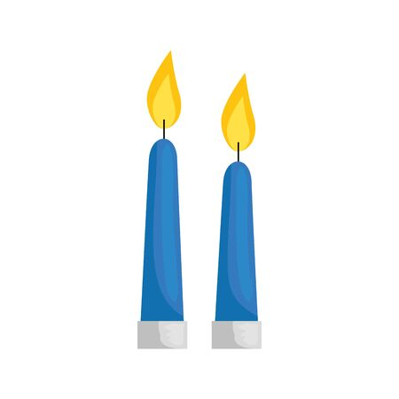 candles light decoration isolated icon vector illustration design  イラスト・ベクター素材