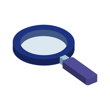 magnifying glass instrument isolated icon vector illustration design