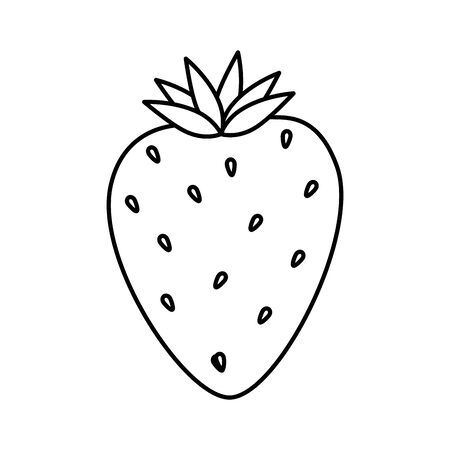 delicious strawberry fruit isolated icon vector illustration design