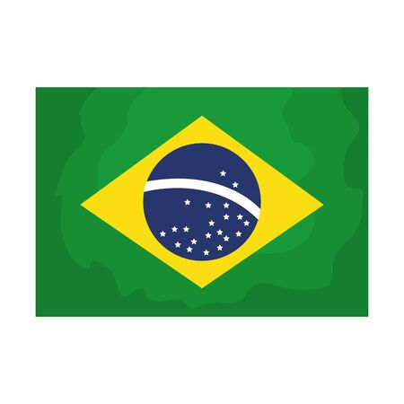 flag of brazil isolated icon vector illustration design 向量圖像