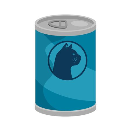 food cat in can isolated icon vector illustration design