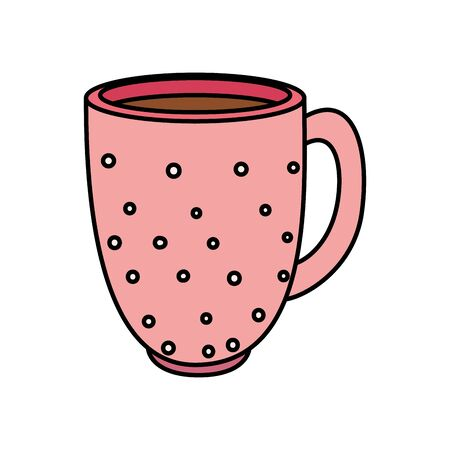 cup coffee delicious isolated icon vector illustration design