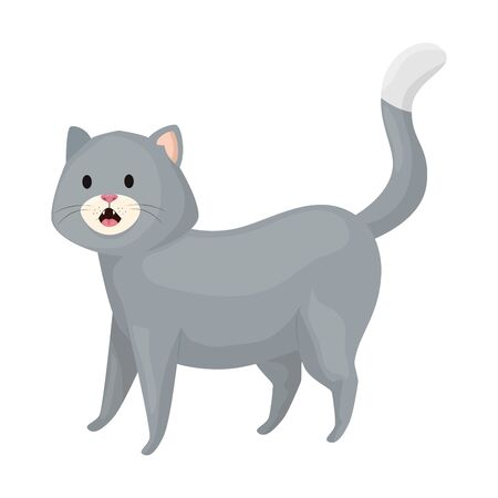 cute little cat animal icon vector illustration design  イラスト・ベクター素材